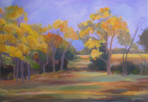 Neighbors Field September Painting
