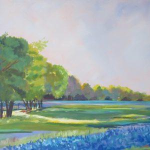 Neighbors Field Spring Painting