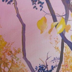 Golden Hanging Leaves